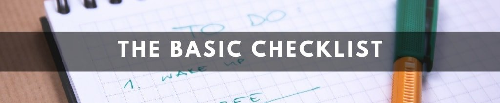 Basic Writing Checklist For Your Blog