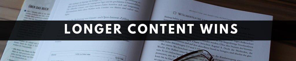 Blogging Tips For Beginners | longer content ranks better