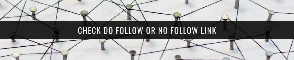 check do follow or no follow link